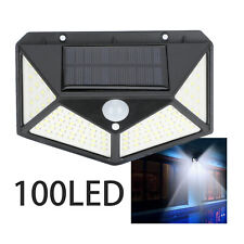 100 LED Solar Powered PIR Motion Sensor Wall Lights Outdoor Garden Security Lamp