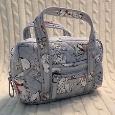 Vera Bradley Travel Takes Case Beary Merry Gray Mini Duffel Travel NWT MSRP $40