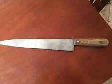 "VINTAGE DEXTER DOHRCO CHEF KNIFE CARBON STEEL 12"" BLADE EXCELLENT CONDITION"