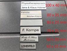 Schild Briefkasten Tür Klingel Wunschnamen Edelstahl 1.4301 2VA 6 Größen