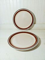 """Yamaka Contemporary Chateau Sienna Brown Dinner Plate Set of 2 10.5"""""""