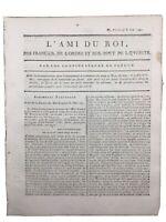 Journal de la Révolution Française 1791 Robespierre Colmar Abbé Raynal Liancourt
