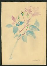 EDOARD MANET - Watercolor on original 19th century paper