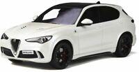 OTTO MOBILE 830 ALFA ROMEO STELVIO QUADRIFOGLIO resin model car white Ltd 1:18th