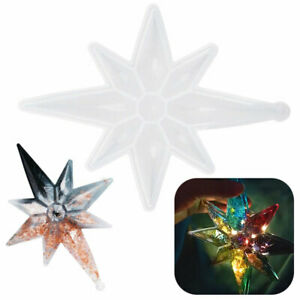LARGE EIGHT POINTED STAR SILICONE MOULD RESIN CHRISTMAS MOLD TREE DECORATION NEW