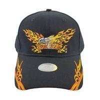 Fire Flames Eagle Living Legend Motorcycle Trucker Hat Biker Black Baseball Cap