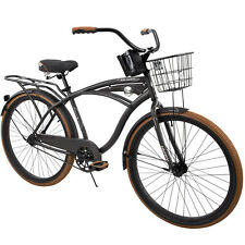 "✅NEW✅ Huffy 26"" Nel Lusso Men's Single-Speed Comfort Cruiser Bike Charcoal 🔥"