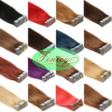 Invisible Seamless Tape In Skin Weft Remy Human Hair Extensions StraightStyle 8A