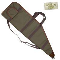 Raytex Green Padded Air Rifle Slip Gun Cover Bag Fleece Lining Front Pocket