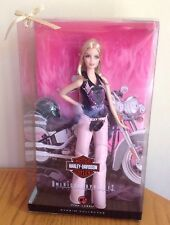 Harley Davidson Barbie 50th Anniversary Pink Label New 2008 RARE Never Opened