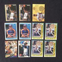 Kenny Lofton Baseball Card Lot of 11 Donruss Fleer Rookie Houston Astros Indians