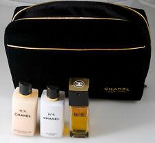 CHANEL No. 5 Gift Set Body Lotion, Bath Gel & Velvet Bag 3.4 Fl Oz / 100 ml