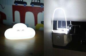 LED Night Light Plug In Auto Sensor or USB Energy Saving Nursery Baby Safety New