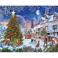 DIY 5D Diamond-Painting Embroidery Christmas Night Stitch Kits Decor Gifts