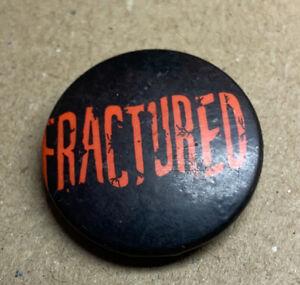 Fractured Punk Metal Rock Badge 1980s Original Red Moon