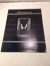 Honda Civic Brochure - Vintage - 1980 - Nice