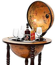 Wine Rack Cabinet 36'' 16th Century Italian Globe Liquor Storage Bar Furniture