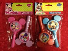 Disney MICKEY MOUSE Or MINNIE Maracas 2 Piece Set Toy Musical Instruments