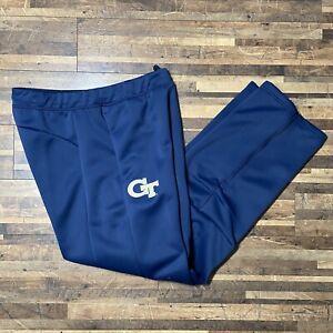 Adidas Georgia Tech Yellow Jackets Blue Athletic Pants Men's Size Medium Defect