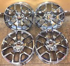 "22"" 22 inch Chrome Wheels Rims OEM Specs GMC Sierra Yukon Denali Chevy 4Set 5656"