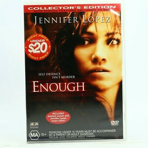 Enough Jennifer Lopez Billy Campbell DVD Good Condition Free Tracked Post