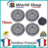 4 centres de roue Mercedes Cache moyeu 75mm embleme jantes logo sigle AMG 75 mm