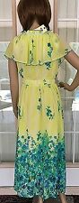 New Women's YD Yellow Dress With Flowers ~ Size L