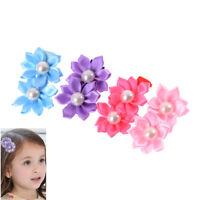 3pcs/lot Kids Baby Girls Children Toddler Flowers Hair Clip Bow Accessories SE