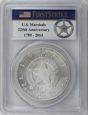 2015-P $1 U.S. Marshals Service Silver Dollar PCGS USMS First Strike Label MS69