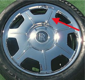 NEW Rolls-Royce Phantom Wheel Spoke Insert OEM Factory Chrome 21 Inlay 6777236