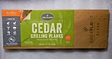 BRAND NEW 2-pack Cedar Grilling Planks Fire Flavor All-Natural CHEAP SHIPPING