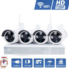Hodely Wireless 4CH 720P NVR WIFI HD CCTV Security IP Camera System Night Vision