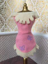 Pocahontas Buckskin Dress Fringe Disney Doll Barbie Native American Pink