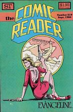 THE COMIC READER NUMBER 219 SEPTEMBER 1984 COMIC NEWS - REVIEWS - AND MORE!