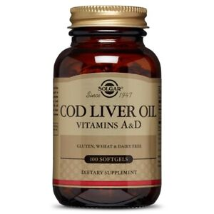 Solgar Cod Liver Oil 100 Softgels FREE Shipping Made in USA FRESH