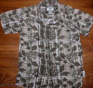 Kids   Bugle Boy   Plaid   button up    Shirt   Youth   size  4   small