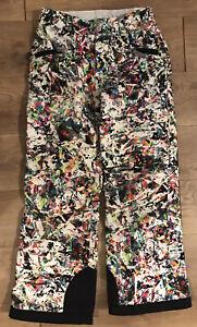 Spyder Girls Snow Pants Size 10 Multi-color Ski Snowboard