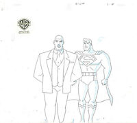 Warner Brothers Animated Series Original Production Drawing Superman/Lex Luthor