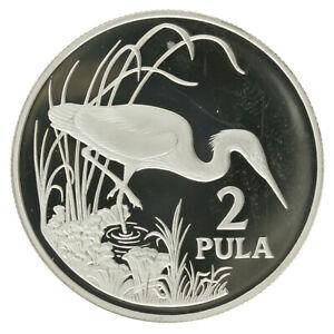 Botswana - Silver 2 Pula Coin - 'Slaty Egret' - 1986 - Proof