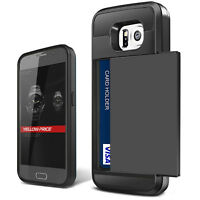 Samsung Galaxy S6/edge/plus/Note 4 Case, HEAVY DUTY WALLET ARMOR ID CARD SLOT US