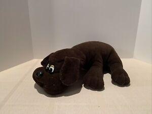 "Vintage Tonka POUND PUPPY ~ Dark Brown Short Ears Large 18"" ~ Stuffed Plush Dog"
