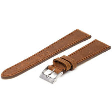 18mm ColaReb Spoleto Stitching Brown Leather Made in Italy Watch Band Strap