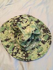NWU Type III Navy Seal Aor2 Digital Woodland Boonie Hat Sun Cover Size XL