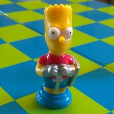 "L@@K BART SIMPSON COLLECTOR FIGURE CHESS PIECE NIK NAK replacement 2 1/4 "" RED"