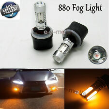 880 LED Fog Light Bulbs Yellow Lamps PG13 Advanced 11W 893 899 890 3000K DRL
