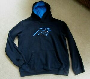 NFL Carolina Panthers Logo Black Hoodie Sweatshirt, Youth XL (18)