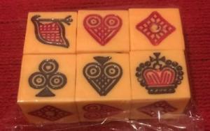 Dice - Crown and Anchor- Langur Burja Traditional Board game jhandi mukut munda
