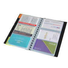 120 Cards Leather Business Name ID Credit Card Holder Keeper Organizer Book Best