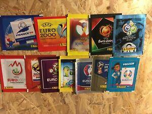 pochettes panini wc 1998.2002.2006.2010.2014.2018 euro 2000. 2004.2008.2012.2020