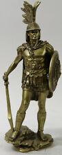 Large WARRIOR Roman Italian Sculpture Alabaster Statue Cold Cast Bronze Figure